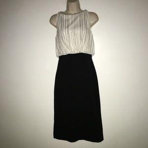 Dresses & Skirts - MM LaFleaur  Dress Size 0,  Ivory Black Pre-owned